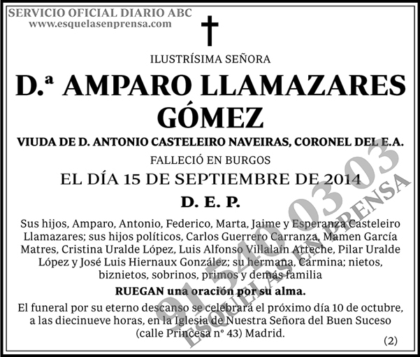 Amparo Llamazares Gómez